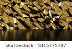 Abstract Gold Polygonal Wall...