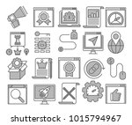 glyph icons set of search... | Shutterstock .eps vector #1015794967