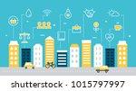 smart sustainable city... | Shutterstock .eps vector #1015797997