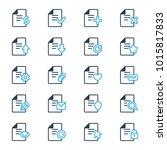 set of document icons. vector... | Shutterstock .eps vector #1015817833