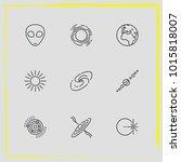 astronomy line icon set...   Shutterstock .eps vector #1015818007