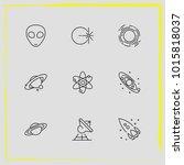 astronomy line icon set...   Shutterstock .eps vector #1015818037