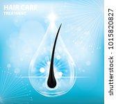 hair care   prevent split ends... | Shutterstock .eps vector #1015820827