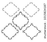 set of vector vintage frames on ... | Shutterstock .eps vector #1015824187
