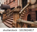 stairs to an upscale building... | Shutterstock . vector #1015824817