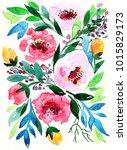 flower arrangement on march 8.... | Shutterstock . vector #1015829173