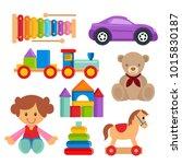 children toy set vector object   Shutterstock .eps vector #1015830187