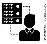 glyph icon design employee