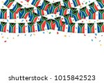 south africa flags garland... | Shutterstock .eps vector #1015842523