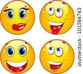 smiley icons | Shutterstock .eps vector #101586763