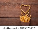 i love fried potatoes. french... | Shutterstock . vector #1015878457