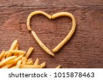 i love fried potatoes. french... | Shutterstock . vector #1015878463