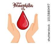 world hemophilia day icons | Shutterstock .eps vector #1015880497