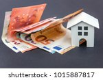 euro banknotes and symbolic... | Shutterstock . vector #1015887817
