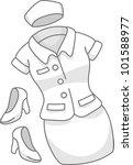illustration of a female nurse... | Shutterstock .eps vector #101588977