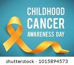 poster for childhood cancer... | Shutterstock .eps vector #1015894573