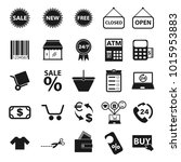 shopping icon set for mobile...