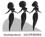 proud black women standing... | Shutterstock .eps vector #1015958983