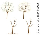 a simple tree going through the ... | Shutterstock .eps vector #1015960507