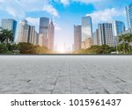 guangzhou city square road and... | Shutterstock . vector #1015961437
