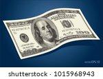 abstract halftone us dollar... | Shutterstock .eps vector #1015968943
