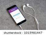 bangkok   jan 10  iphone6s open ... | Shutterstock . vector #1015981447