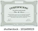 vintage frame  certificate or... | Shutterstock .eps vector #101600023