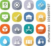 flat vector icon set   annual... | Shutterstock .eps vector #1016004937
