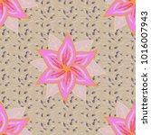 vector floral illustration in... | Shutterstock .eps vector #1016007943