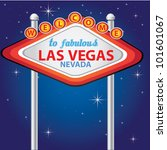 welcome to fabulous las vegas ... | Shutterstock .eps vector #101601067