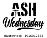 ash wednesday abstract symbolic ... | Shutterstock .eps vector #1016012833