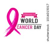 world cancer day vector | Shutterstock .eps vector #1016015017