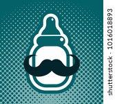 baby boy shower greeting card | Shutterstock .eps vector #1016018893