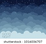 night time sky background. good ... | Shutterstock .eps vector #1016036707
