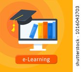 e learning  online education... | Shutterstock .eps vector #1016043703