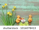 easter decoration with... | Shutterstock . vector #1016078413