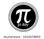 pi day is an annual celebration ... | Shutterstock .eps vector #1016078893