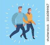 vector cartoon illustration of... | Shutterstock .eps vector #1016084467