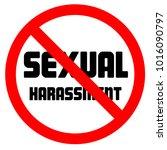 stop sexual harassment... | Shutterstock .eps vector #1016090797
