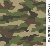 camouflage seamless pattern.... | Shutterstock .eps vector #1016099293