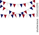 russian flag festive bunting... | Shutterstock . vector #1016111293
