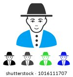 gladness jew vector pictograph. ... | Shutterstock .eps vector #1016111707