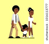 young afro american family | Shutterstock .eps vector #1016113777