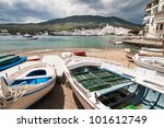 Cloudy day in Cadaques. - stock photo