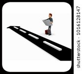 3d man finding right way on... | Shutterstock . vector #1016128147