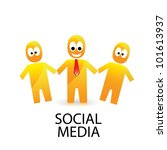 social networking color... | Shutterstock .eps vector #101613937