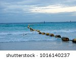 buoy on the sea | Shutterstock . vector #1016140237