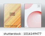 vector graphic geometric covers ... | Shutterstock .eps vector #1016149477