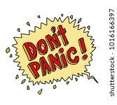 dont panic comic book pop art... | Shutterstock .eps vector #1016166397