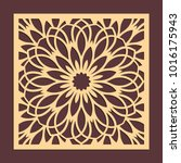 laser cutting panel. golden...   Shutterstock .eps vector #1016175943